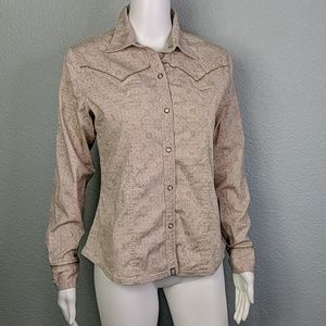 North Face A5 button down long sleeve print top